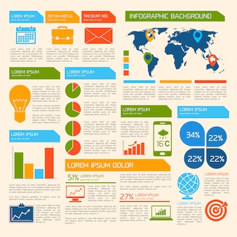 Business infographik vorlage