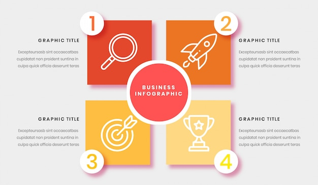 Business infograpic vorlage