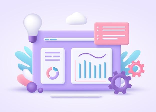 Business intelligence 3d-illustration.