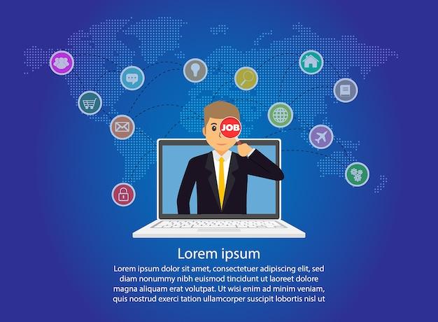 Business-internet-netzwerk