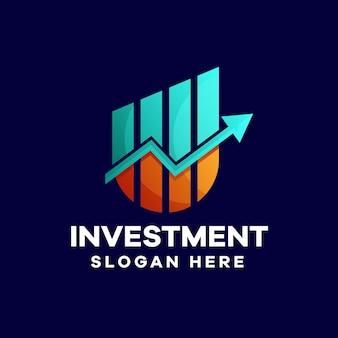 Business investment logo-design mit farbverlauf