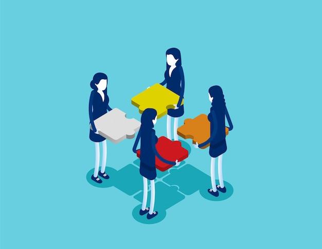 Business isometrische teamarbeit