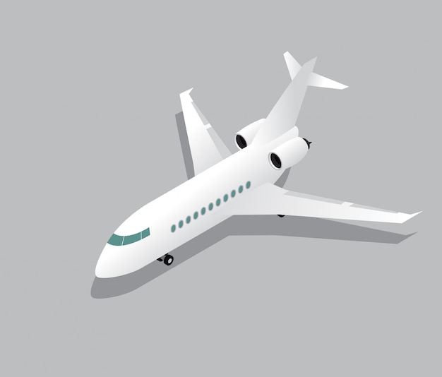 Business jet aircraft isometric