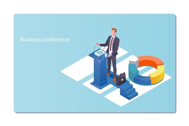Business konferenz einladung konzept