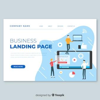 Business-konzept-landing-page-vorlage
