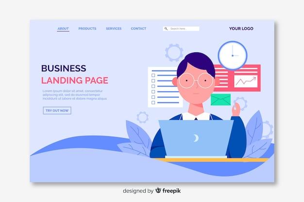 Business-konzept-landing-page
