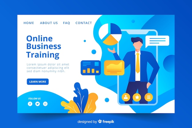 Business-konzept-landing-page