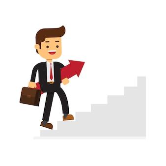 Business-konzept wachstum und der weg zum erfolg