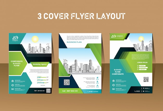 Business korporative moderne flyer template-design