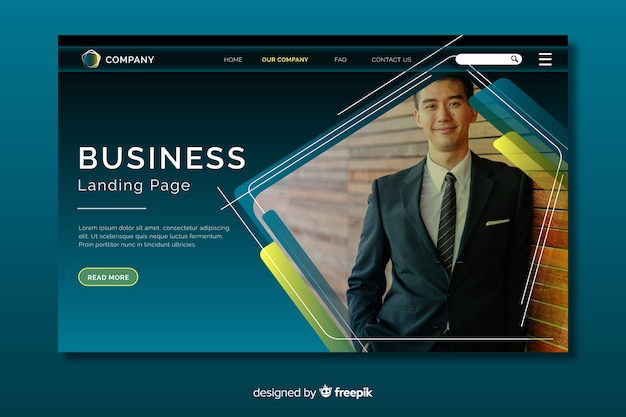 Business landing page-konzept
