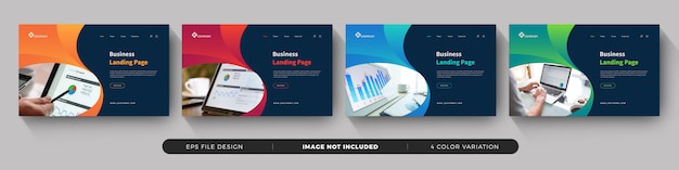 Business landing page template gesetzt