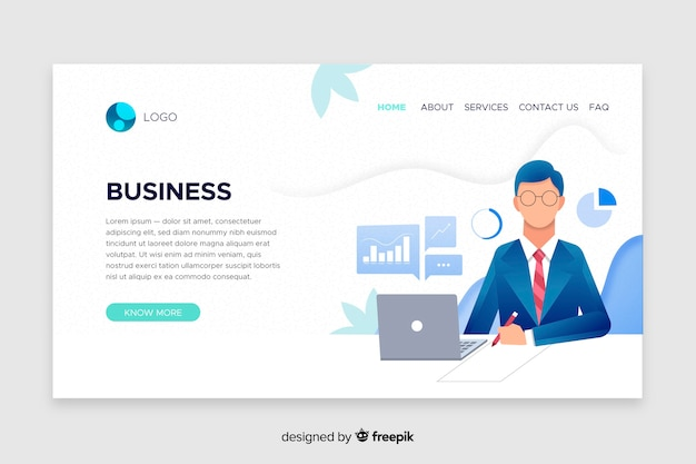 Business landing page vorlage