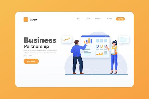 Business landing page vorlage