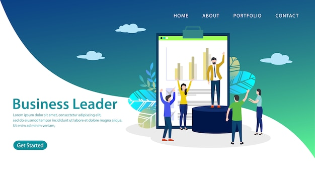 Business leader landing page