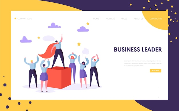 Business leader manager landing page