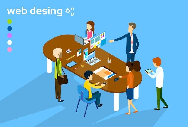 Business-leute-gruppensitzung