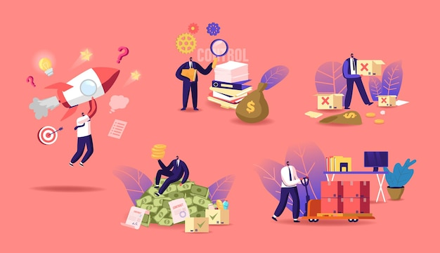 Business lifecycle illustration