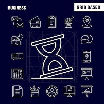 Business line-symbol für das web