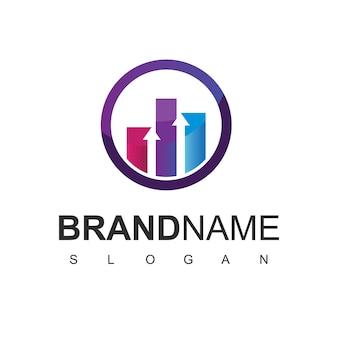 Business-logo-design-vorlage mit business-statistik-symbol