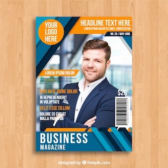 Business-Magazin-Cover-Vorlage mit Foto