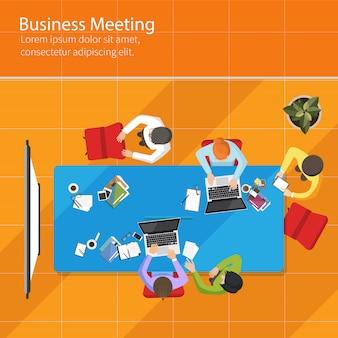 Business meeting draufsicht