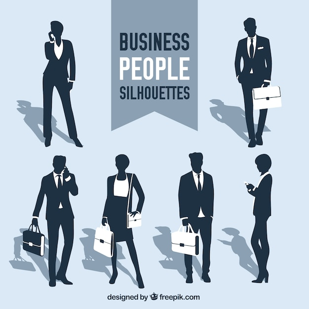 Business-menschen silhouetten sammlung