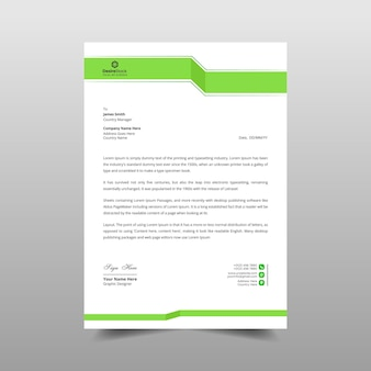 Business minimal letterhead template design illustration