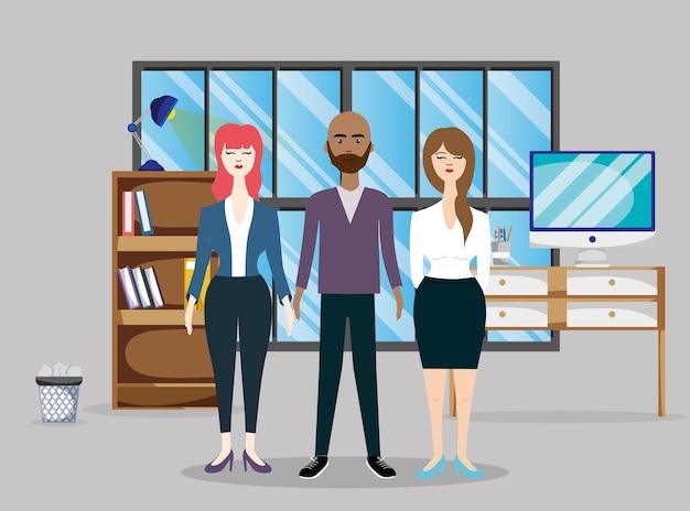 Business-mitarbeiter cartoons