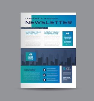Business newsletter cover, journal oder monats- oder jahresbericht