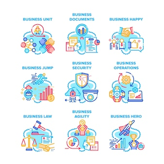 Business occupation set icons