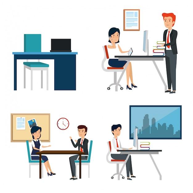 Business-office-sachen einstellen