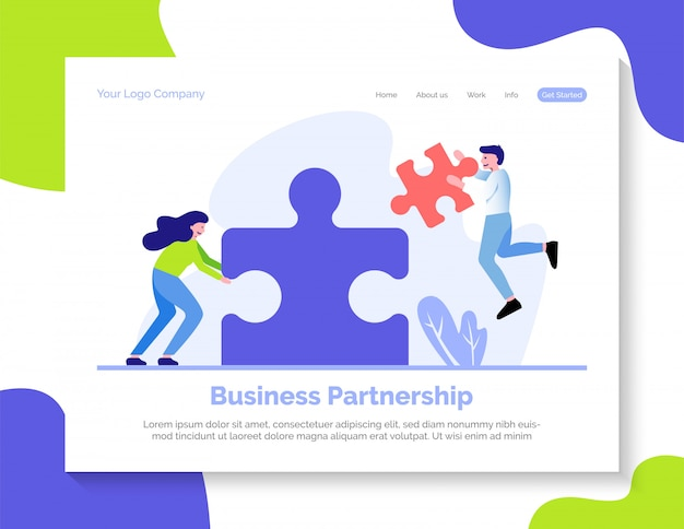 Business partnership landing page vorlage