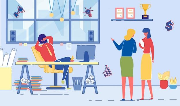 Business people office tagesablauf. arbeitstag