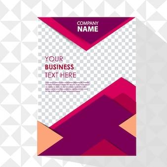 Business-plakat mit geometrischen formen