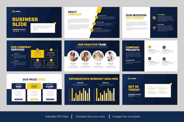 Business powerpoint-präsentationsdesign