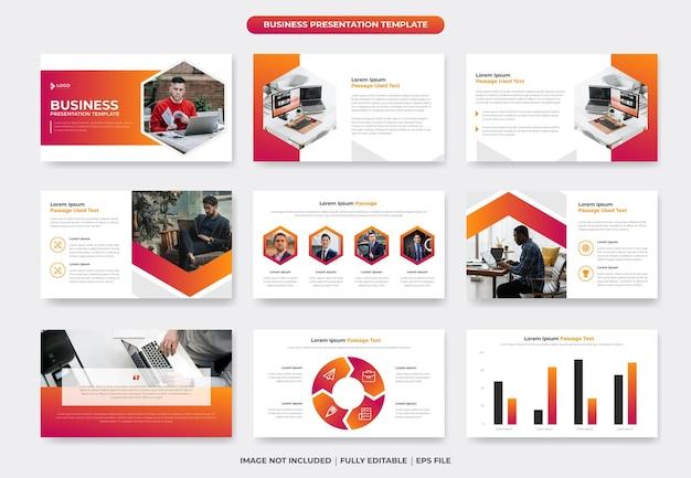 Business powerpoint-präsentationsfolienvorlage oder firmenprofilpräsentation