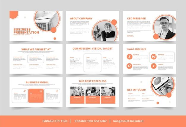 Business-powerpoint-präsentationsvorlage oder business-präsentationsdesign