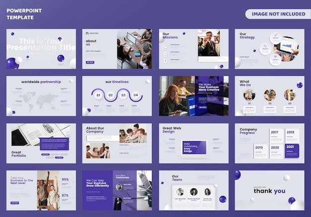 Business powerpoint-präsentationsvorlage