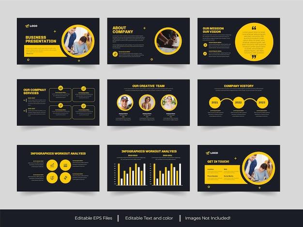 Business-powerpoint-präsentationsvorlage
