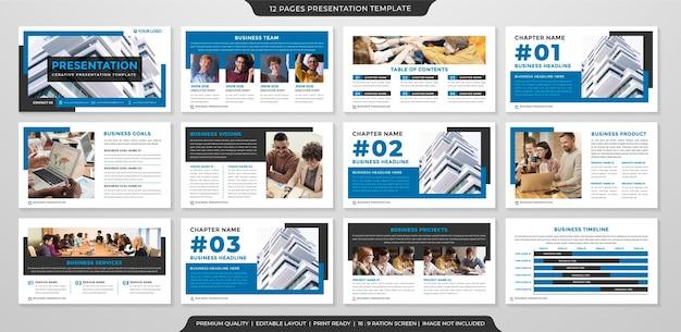 Business-ppt-layout-vorlage mit premium-stil