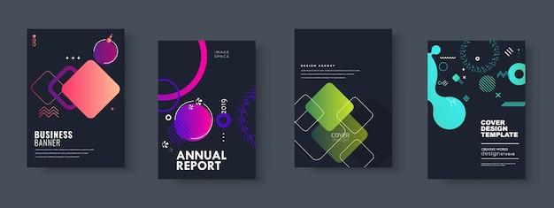 Business-präsentation, corporate document cover und layout-vorlagen-designs