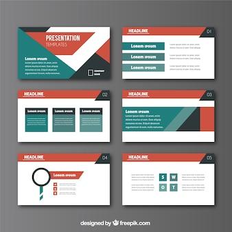 Business-präsentation im abstrakten stil