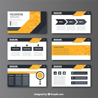 Business-präsentation in geometrischen stil