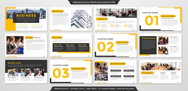 Business-präsentation layout-vorlage premium-stil
