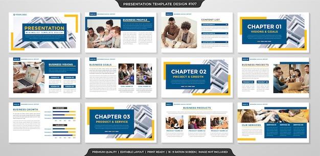 Business-präsentation layout-vorlage premium-stil