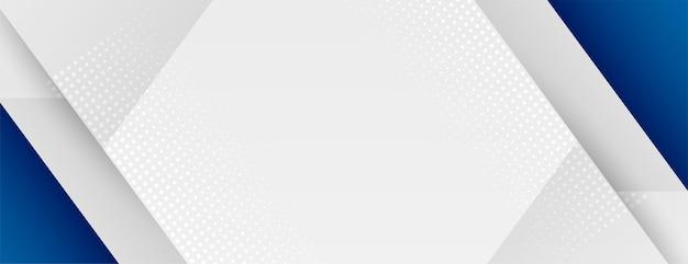Business-präsentationsbanner mit blauer geometrischer form