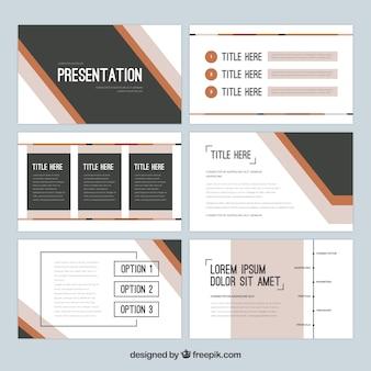 Business-präsentationsvorlage in flachen stil