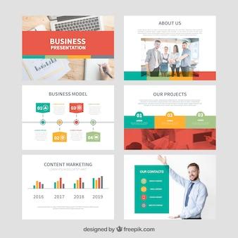 Business-präsentationsvorlage mit foto