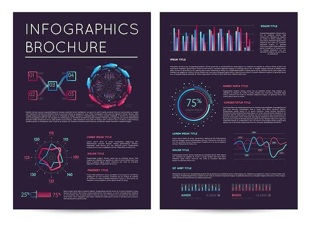 Business präsentationsvorlage mit infografiken