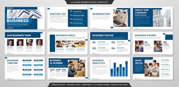 Business-präsentationsvorlage premium-stil